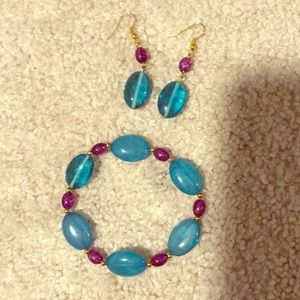 Original earrings and bracelet set